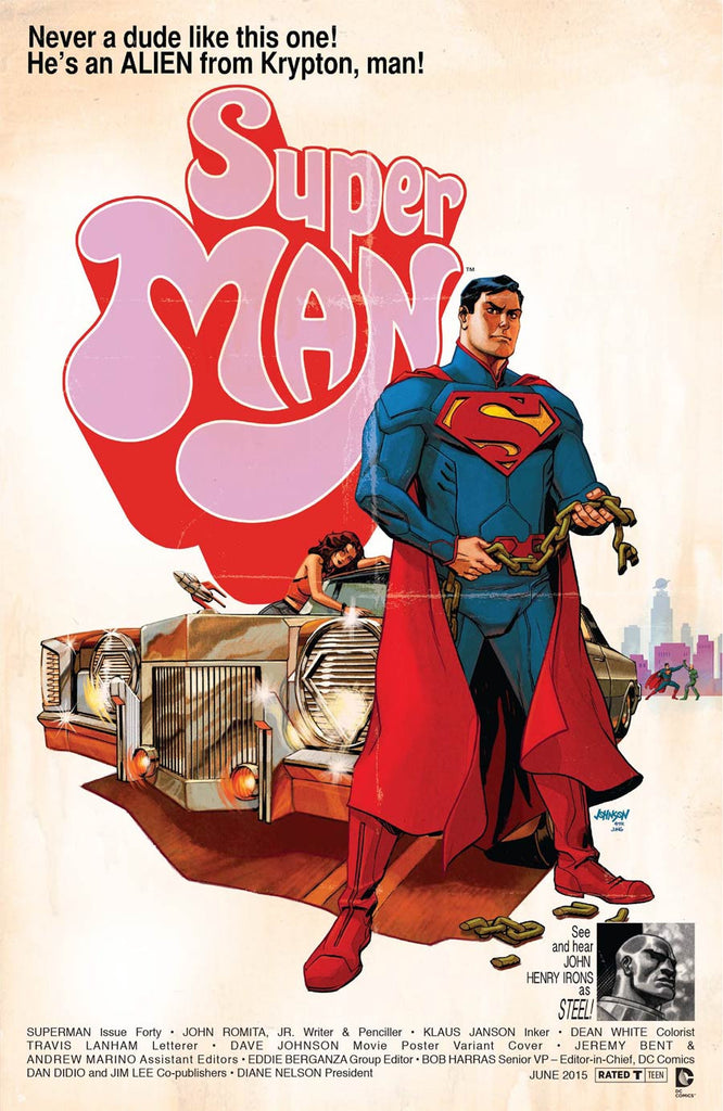 4d30ed1b83d Superman Vol 4  40 Cover B Variant Super Fly WB Movie Poster Cover  NM –  Asylum Kollectibles