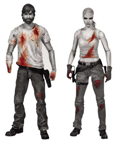 The Walking Dead Rick Grimes & Andrea Series 3 / Bloody 2-pack Action figures   * In Stock *  NIB !!!!