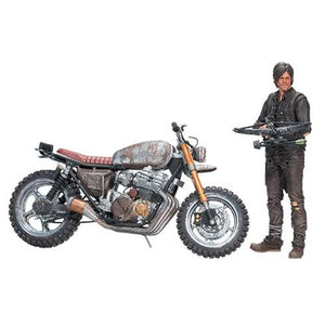 Walking Dead Daryl Dixon Action Figure and Motorcycle Version 2 Deluxe Box Set * NIB *