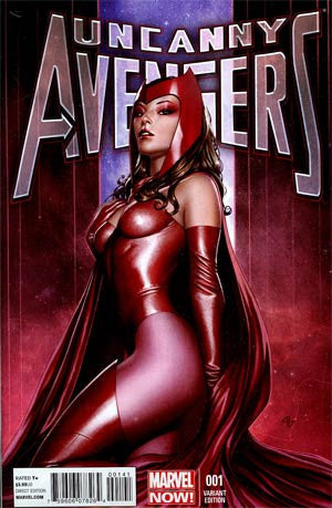 Uncanny Avengers #1 Incentive Adi Granov Variant Cover  # 1 Scarlet Witch  *NM*  (2012)