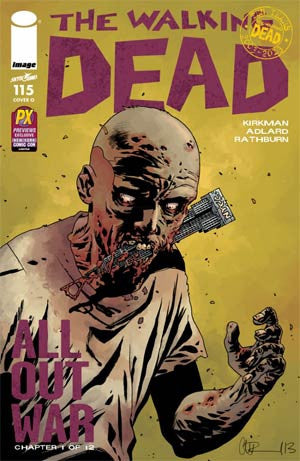 The Walking Dead #115 Cover O NYCC Previews Exclusive Charlie Adlard Variant Cover!!!