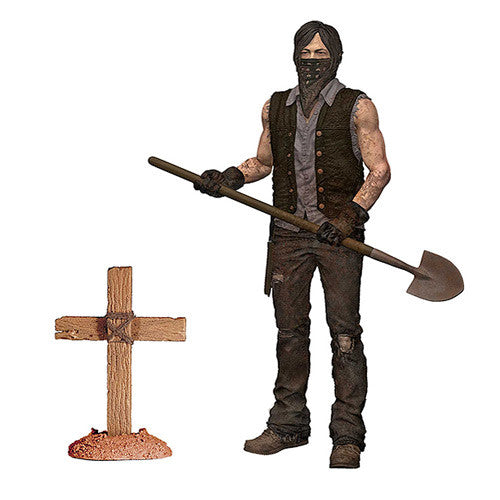 The Walking Dead Series TV 9 Grave Digger Daryl Dirt Ver. Figure  !!!!!