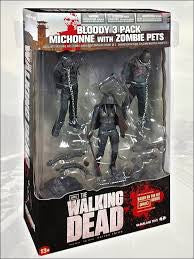 The Walking Dead TV (Bloody Black & White) Michonne & Pet Zombies 3-Pack !!!!