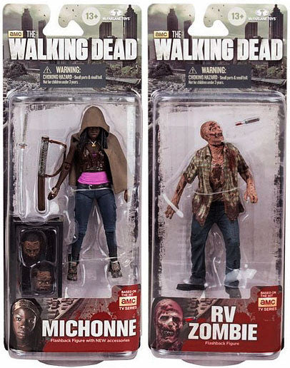 McFarlane Walking Dead AMC  TV Series 6 Set of 2 Action Figures [Michonne & RV]  Flash Back