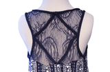 High-Low Lace Back Tank Top