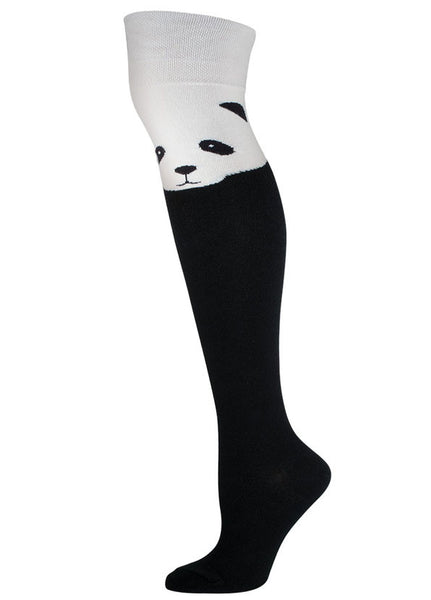 Panda Over the Knee Socks