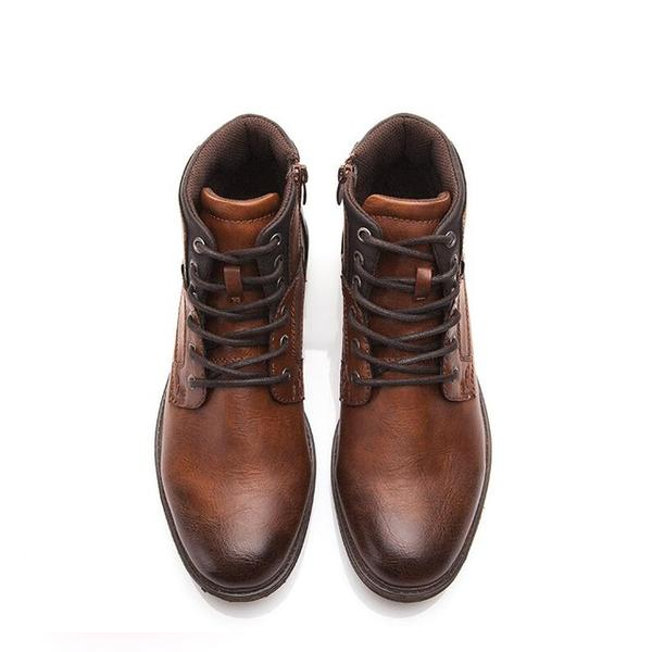 Men's Lace-Up Leather Ankle Boots
