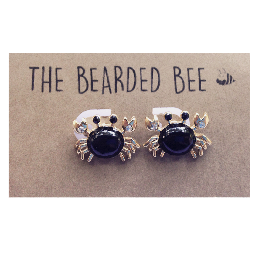 Diamond Studded Crab Earrings