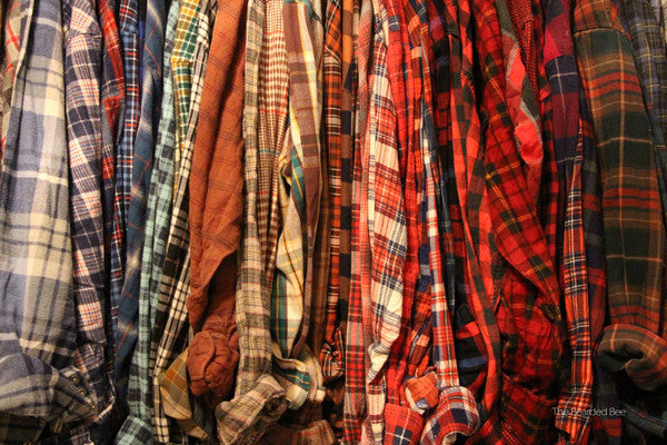 Mystery Vintage Flannel Shirts (5-Pack)