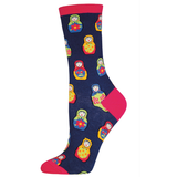 Russian Matryoshka Nesting Doll Socks
