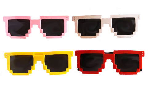 8 Bit Pixel Gamer Sunglasses