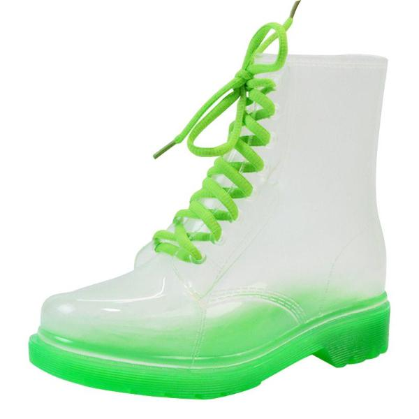 Women's Neon Transparent Rain Boots