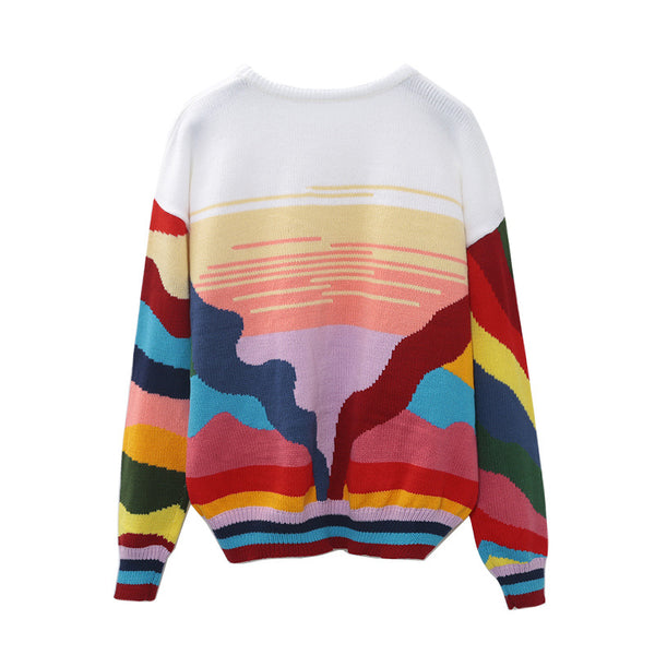 Vintage Inspired Abstract Sweater
