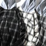 Men's Hooded Plaid Flannel