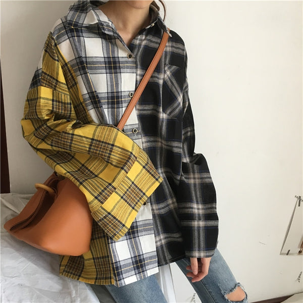 Patchwork Plaid Flannel