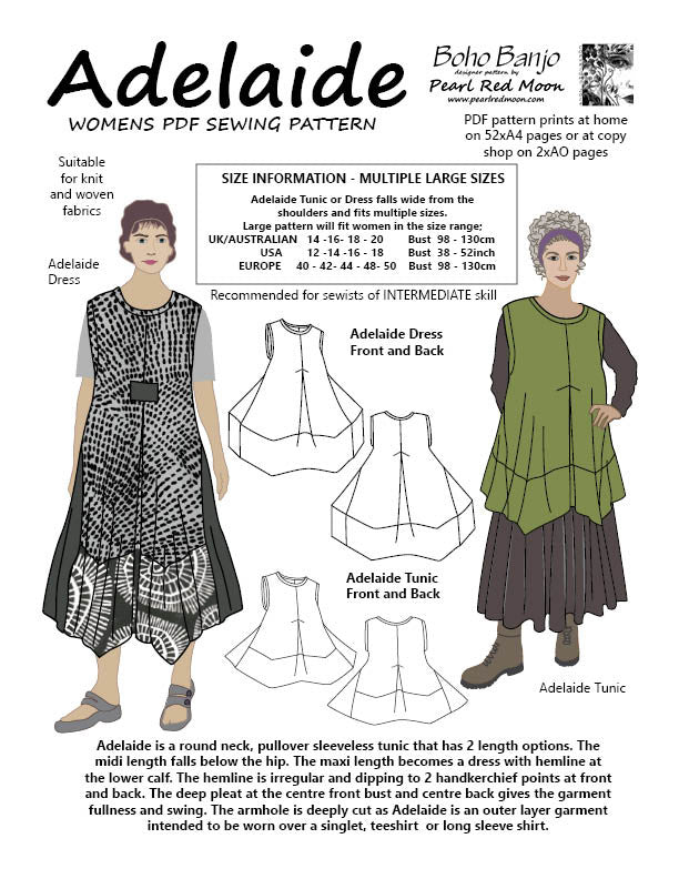 Adelaide (Large sizes) PDF sewing pattern