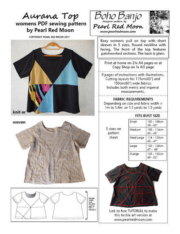 AURANA TOP PDF sewing pattern