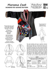Marama Coat, womens PDF sewing pattern
