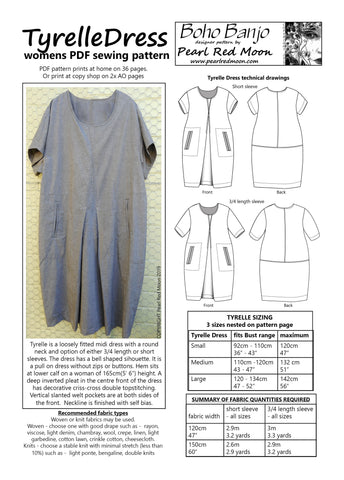 Tyrelle Dress, PDF sewing pattern