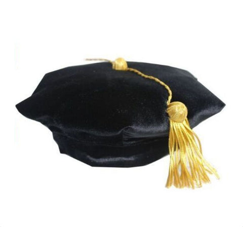 Doctoral Tams Black (Velvet Band)