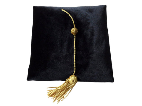 Doctoral Tams Black (Silk Band)