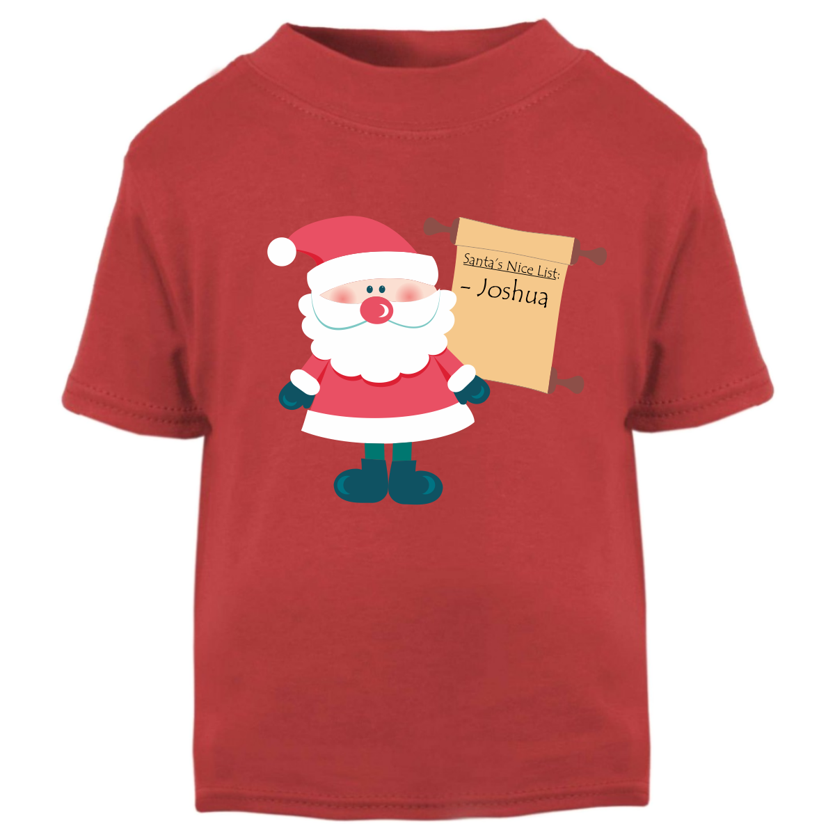 5768def79a9 Santa s Nice List - Personalised Kids T-Shirt – Purple Penguin Clothing