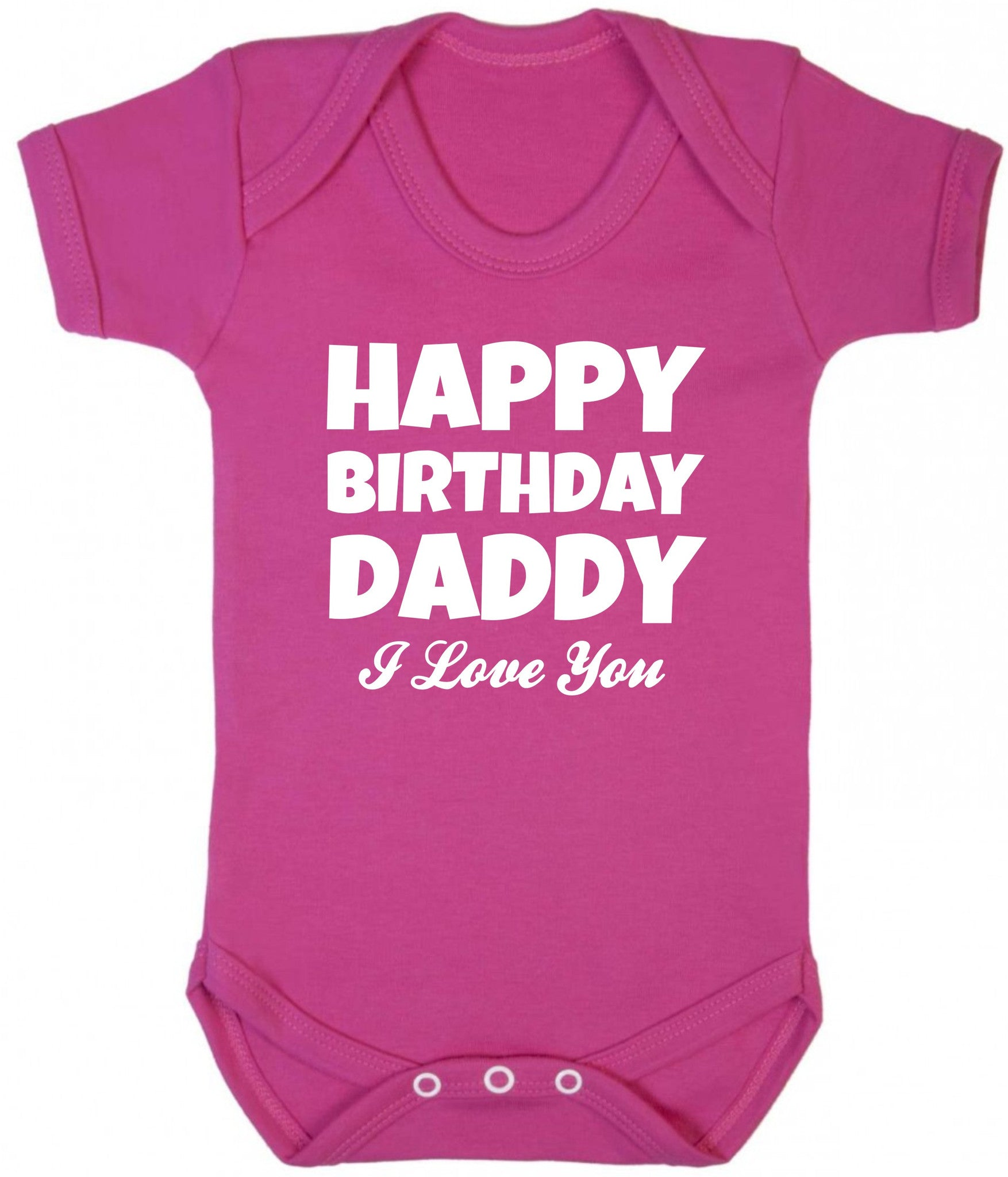 Happy Birthday Daddy Baby Grow Purple Penguin Clothing