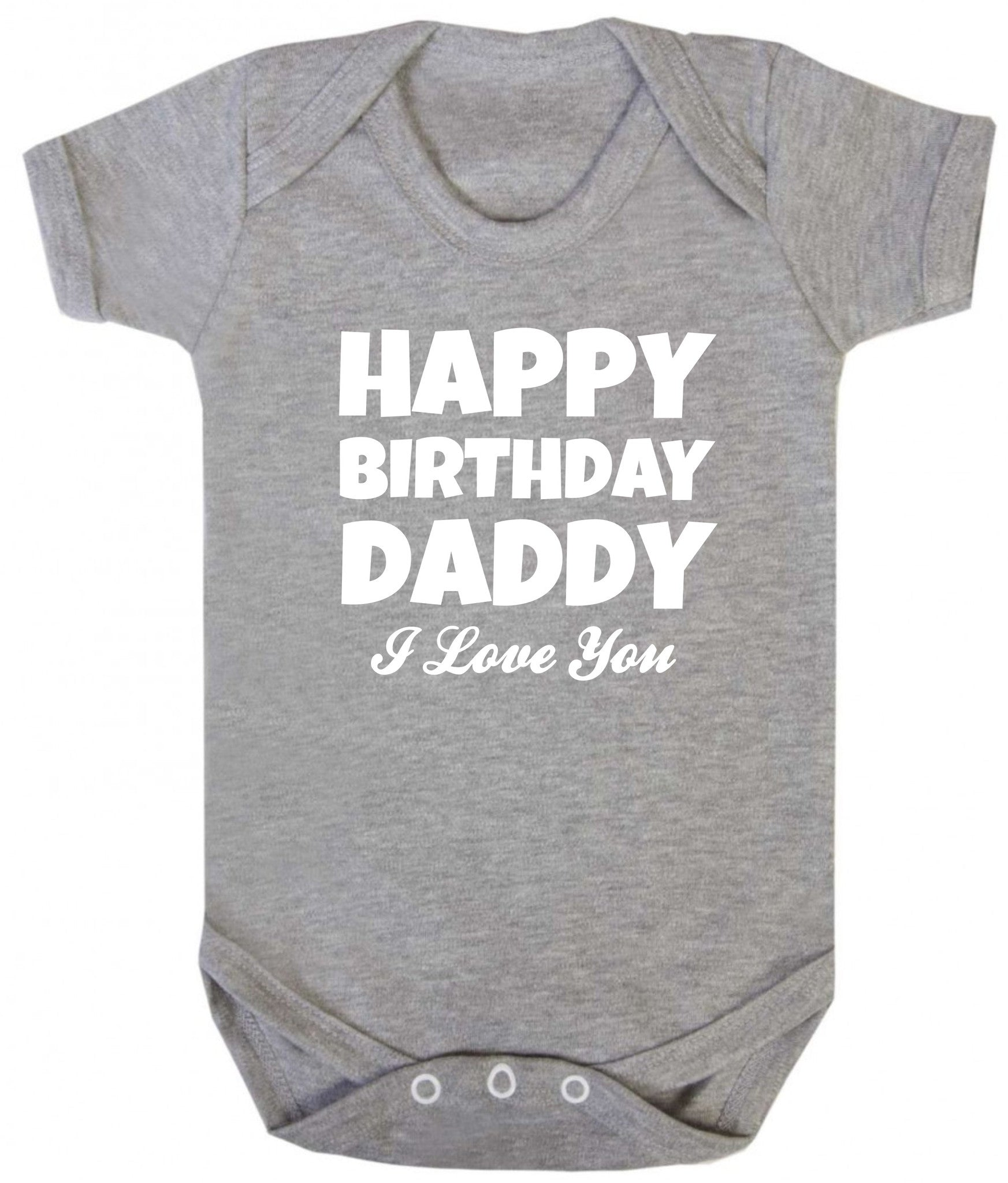 Happy Birthday Daddy Baby Grow – Purple Penguin Clothing