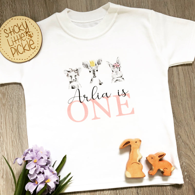 Woodland Personalised Birthday T-Shirt