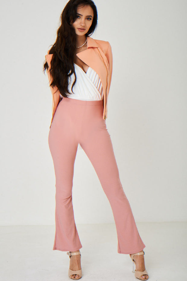90c445a6a7fd02 Boot Flare Pink Trousers