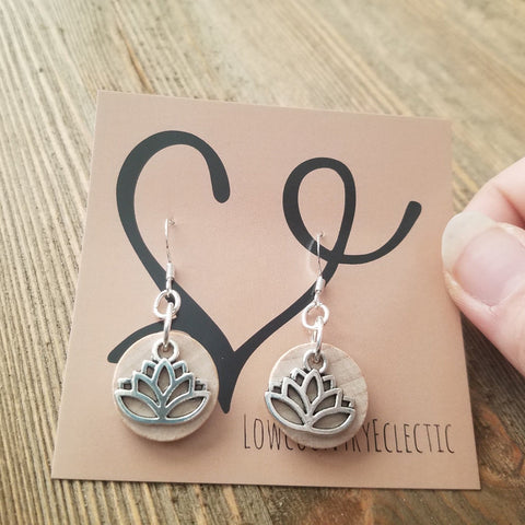 The ORIGINAL Lotus Essential Oil Diffuser Earrings -- FREE SHIPPING