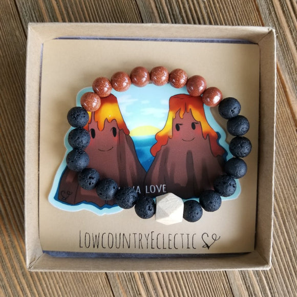 Lava Love Gemstone Essential Oil Diffuser Bracelet-- FREE SHIPPING