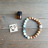 Gentle Words Gemstone Essential Oil Diffuser Bracelet