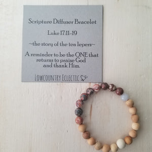 The Ten Lepers Gemstone Essential Oil Diffuser Bracelet-- FREE SHIPPING