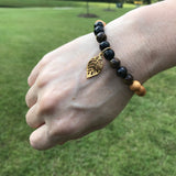 Lord of the Rings Inspired Gemstone Essential Oil Diffuser Bracelet-- FREE SHIPPING