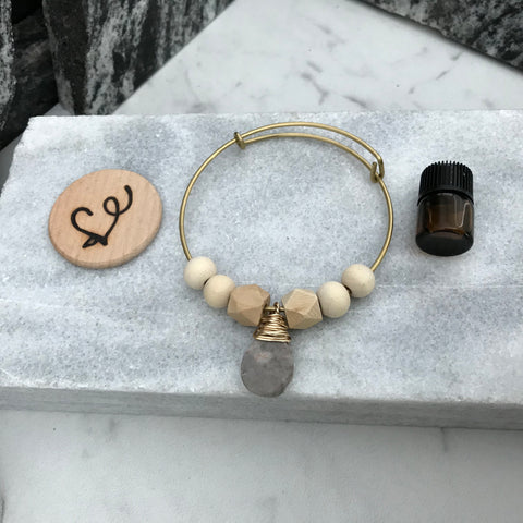 Marble Essential Oil Diffuser Bracelet—The Marbleous Collection