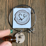 Dandelion Wishes Essential Oil Diffuser Bracelet-- FREE SHIPPING// Statement Line