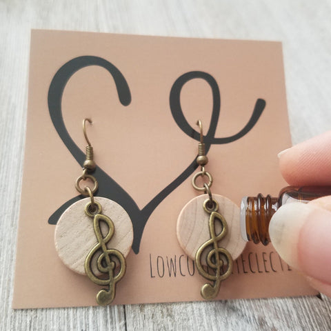 The ORIGINAL Music Note Essential Oil Diffuser Earrings -- FREE SHIPPING