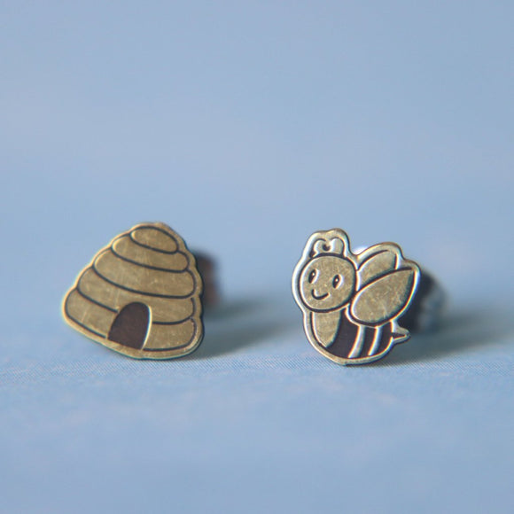 Bee and Hive Earrings // The Gumball Jackpot Collection
