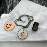 Wire Wrapped Howlite Essential Oil Diffuser Necklace --  The Marbleous Collection