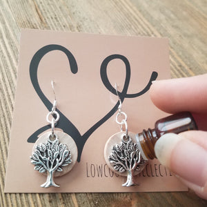 The ORIGINAL Tree of Life Essential Oil Diffuser Earrings -- FREE SHIPPING