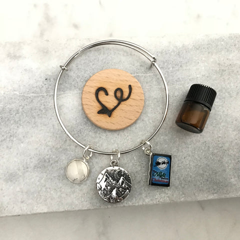 The Night Before Christmas Essential Oil Diffuser Bracelet—The Marbleous Collection
