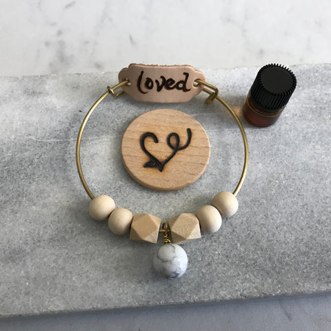 Loved Howlite Essential Oil Diffuser Bracelet—The Marbleous Collection