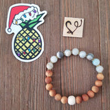 Christmas in Charleston Gemstone Essential Oil Diffuser Bracelet-- FREE STICKER