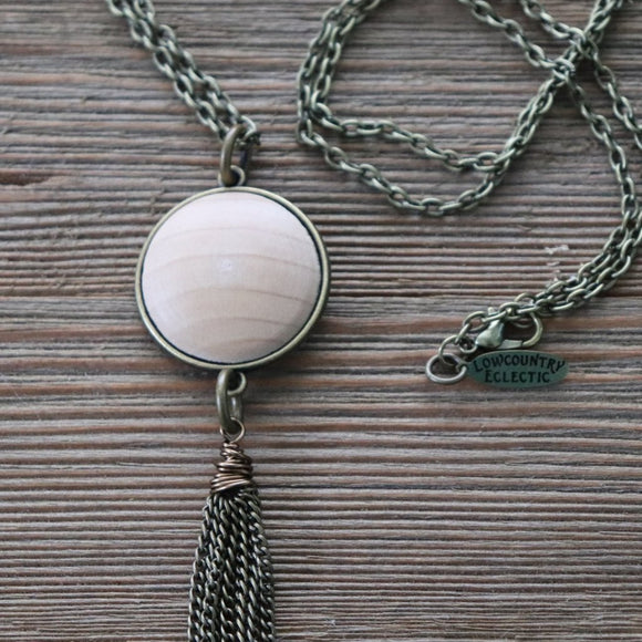 Essential Oil Diffuser Tassel Necklace--GALLERY LINE