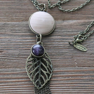 Amethyst Essential Oil Diffuser Tassel Necklace--GALLERY LINE