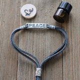 PEACE Easy-Wrap Essential Oil Diffuser Bracelet // FREE SHIPPING