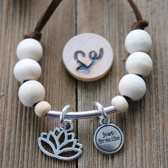 Just Breathe Easy-Wrap Essential Oil Diffuser Bracelet // FREE SHIPPING