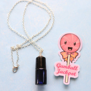 Lollipop On-the-Go Roll-on Essential Oil Necklace // 2ml Vial // The Gumball Jackpot Collection //GALLERY LINE