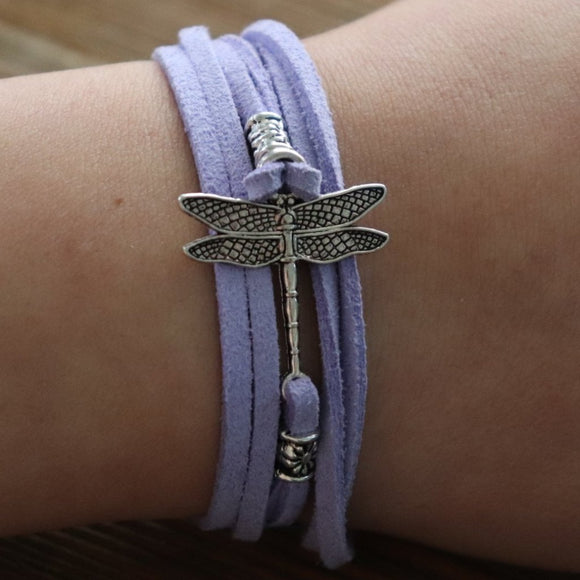 Dragonfly Easy-Wrap Essential Oil Diffuser Bracelet // FREE SHIPPING